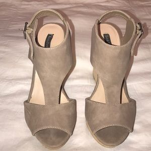 Shoes - Taupe Wedges